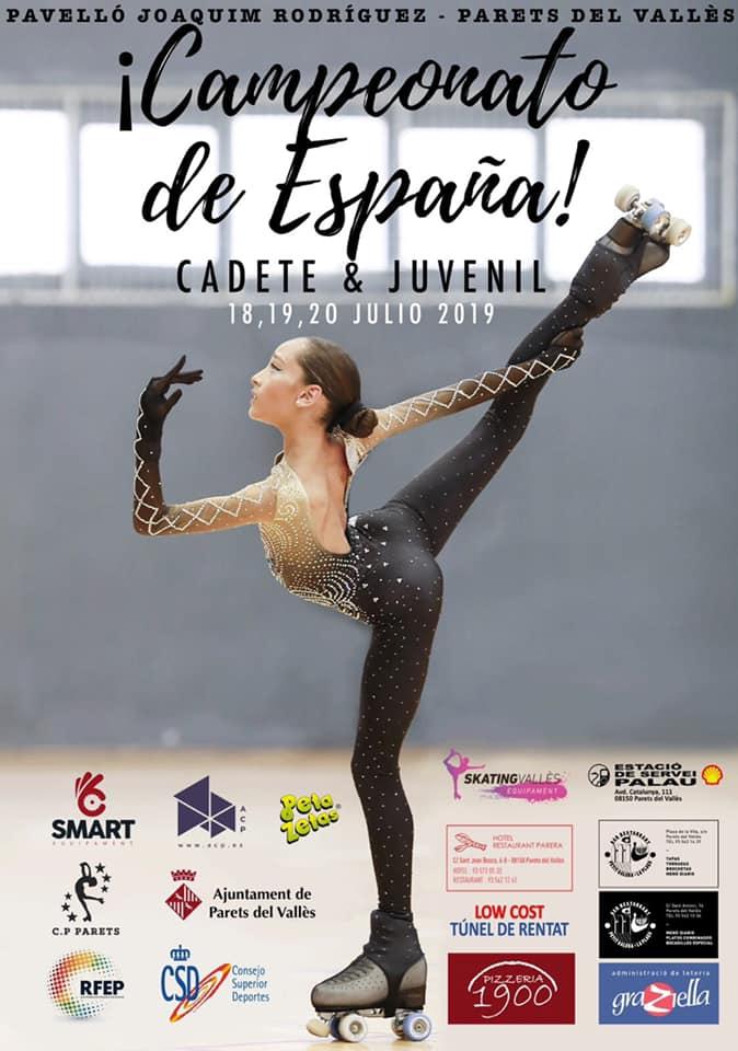 Campeonato de España de Patinaje de las categorías cadete y juvenil