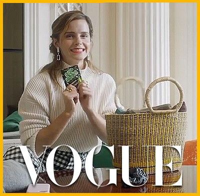 Emma Watson con Pop Rocks en Vogue