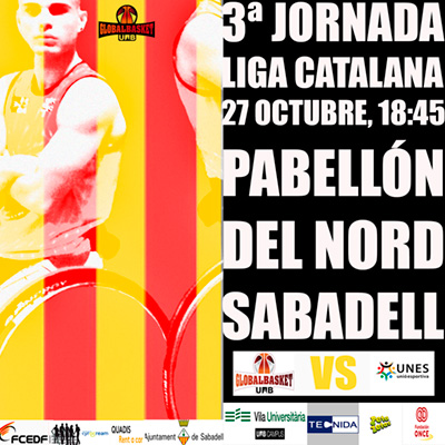 Cartel 3ra jornada liga catalana Global Basket