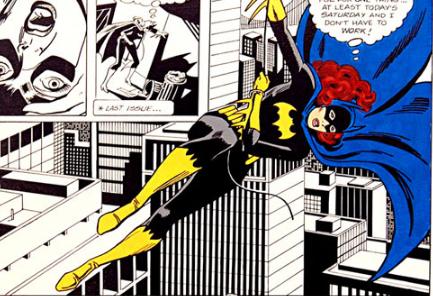 Viñeta de uno de los icónicos comics de José Delbo, Batgirl.