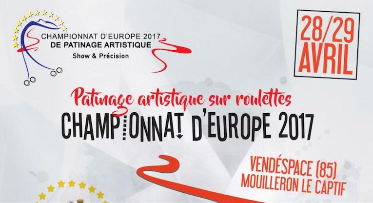Cartel del campeonato de Europa de patinaje