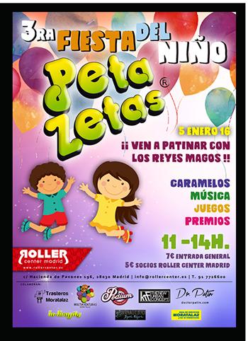 Cartel Roller fiesta Peta Zetas