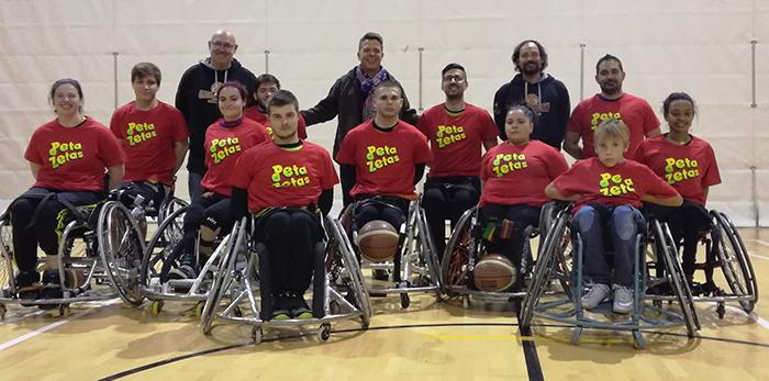 Equipo Baloncesto Global Basket patrocinando Peta Zetas