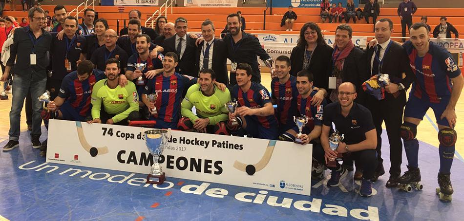 FC Barcelona Lassa campeones de la Copa del Rey patrocinado por Peta Zetas.