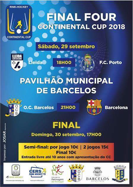 Cartel FINAL FOUR CONTINENTAL 2018