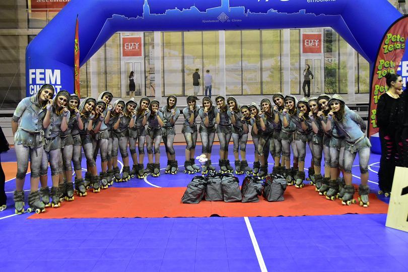 Peta Zetas felicita a los Participantes en el  Campeonato Xou Territorial  de Girona.