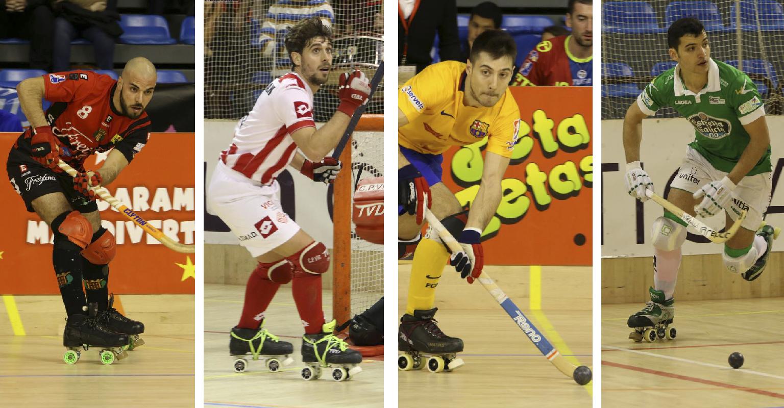 Peta Zetas felicita a los campeones de la Copa del Rey Hockey Patines 1