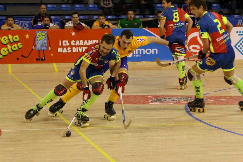 Peta Zetas felicita a los campeones de la Copa del Rey Hockey Patines 2