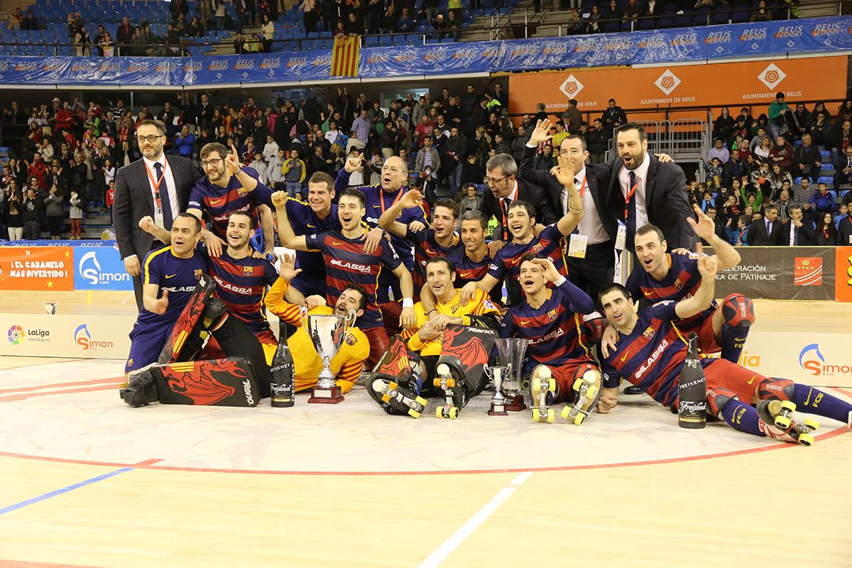Peta Zetas felicita a los campeones de la Copa del Rey Hockey Patines