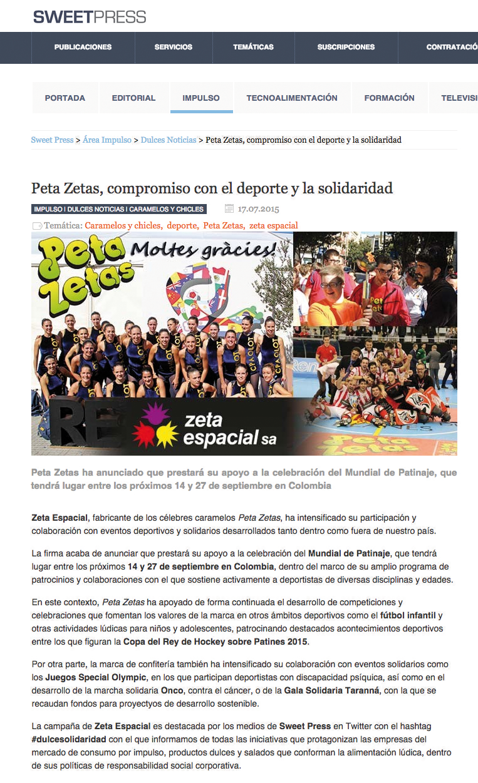 Peta Zetas amplía su compromiso con el deporte y la solidaridad