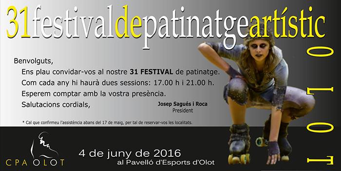 Poster del 31 Festival CPA Olot, equipo patrocinado por Peta Zetas