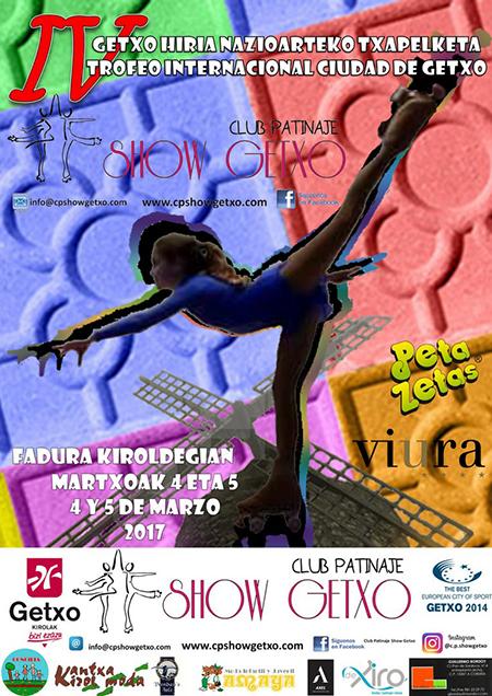 Poster del trofeo internacional Getxo del 2017 con patrocinio de Peta Zetas