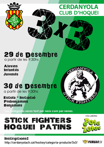 Cartel VI Edición del 3x3 Cerdanyola Stick Fighters