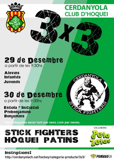 Cartel VI Edición del 3x3 Cerdanyola Stick Fighters