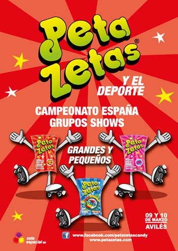 Boletín de Peta Zetas promocionando el Campeonato de España grupos show