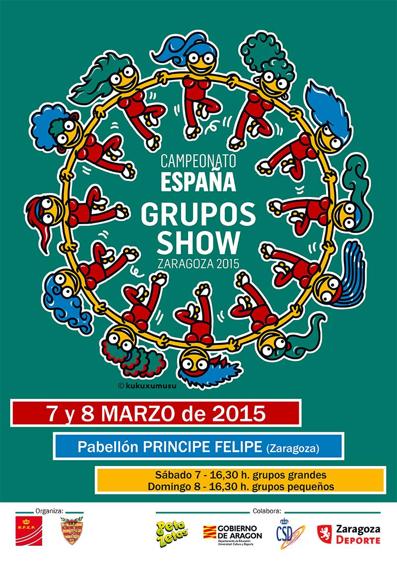Peta Zetas con el Campeonato de grupos Show de España