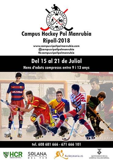 Cartel del Campus Hockey Pol Manrubia patrocinado por Peta Zetas