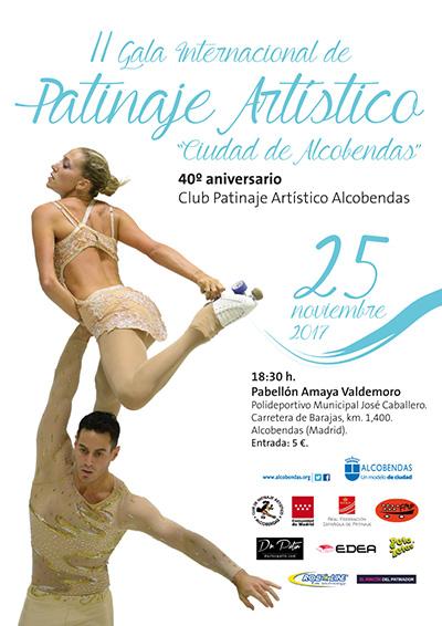 Cartel de la II Gala Internacional de Patinaje Artístico patrocinado por peta zetas