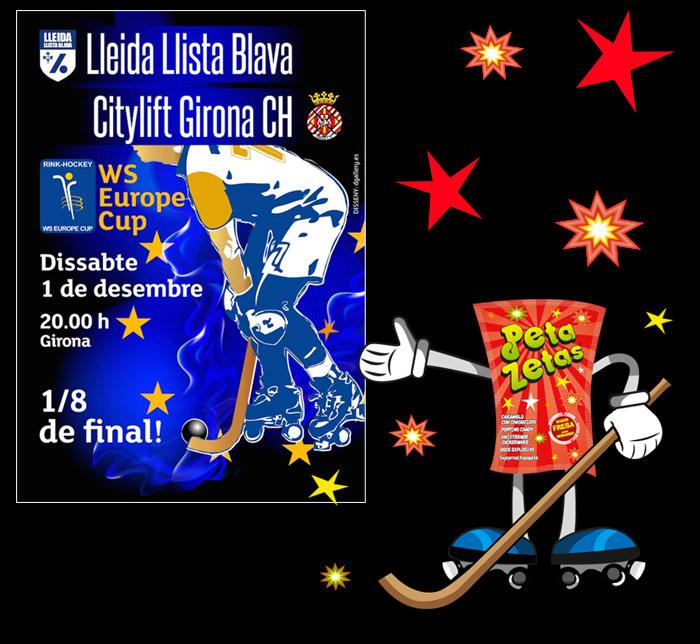 Cartel Lleida Lista Blava vs Citylift Girona CH yPeta-Zetas