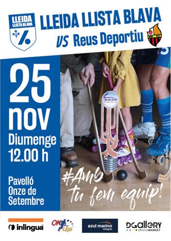 Cartel Lleida Llista Blava vs Reus Deportiu