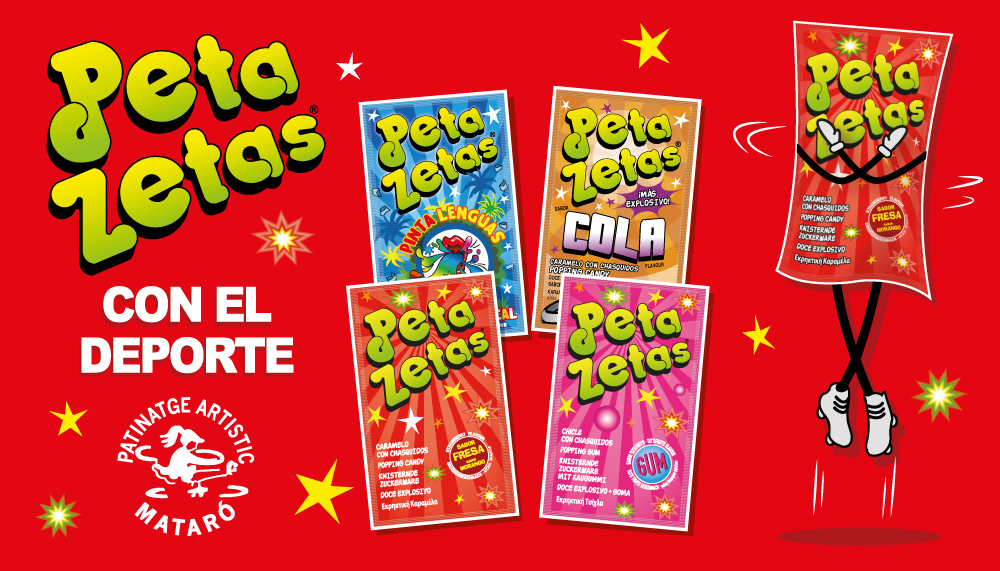Cartel de Peta Zetas para el festival de verano de C.P.A. Mataró