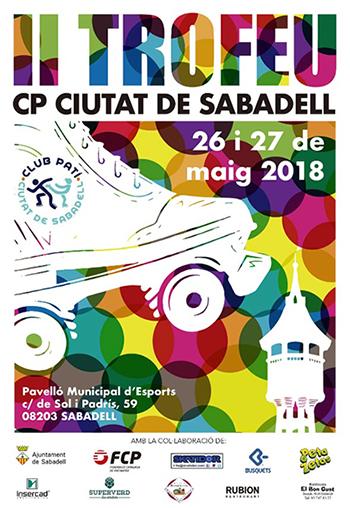 Cartel del Trofeo Club Patí Ciutat de Sabadell patrocinado por Peta Zetas
