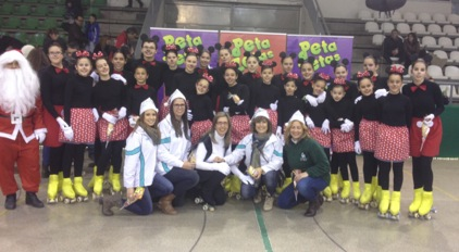Peta Zetas and the artistic skating club Cerdanyola