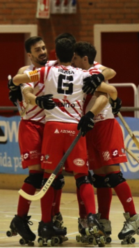 Club patí vic en la copa del rey de Hockey patrocinado por Peta Zetas