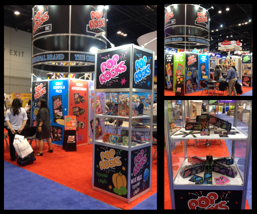 Collage de stand de Pop Rocks de sweets & snacks.