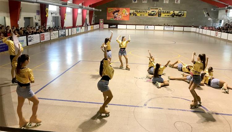 Coreografías presentadas por los clubes CPA Sant Joan Despí, CP Osona, UE Gurb y CP Tiana en el 33 Festival de primavera de patinaje artístico organizado por APA Folgeroles y patrocinado por Peta Zetas.
