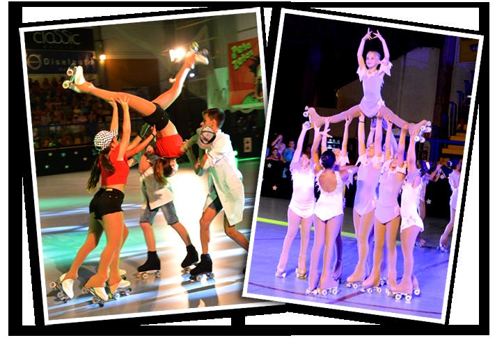 Gran destreza sobre el patín presentaron las deportistas de la categoría show y grupos en el festival de verano del CPA Mataró, con la colaboración de Peta Zetas.