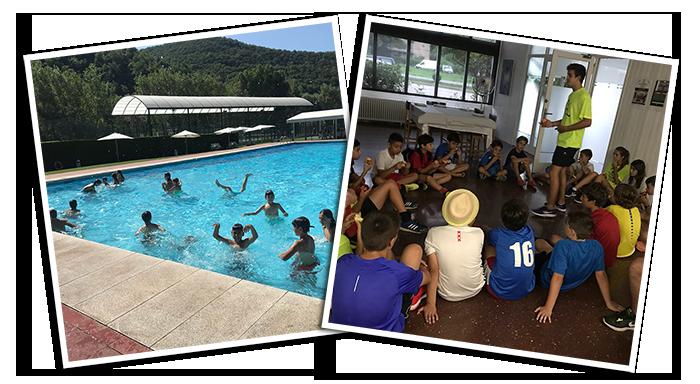 Juegos en la piscina y charlas deportivas fueron otras actividades organizadas en el campus Pol Manrubia, apoyado por el popping candy Peta Zetas.