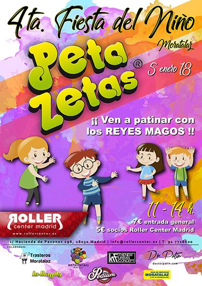 Cartel de la 4ta fiesta del niño Peta Zetas