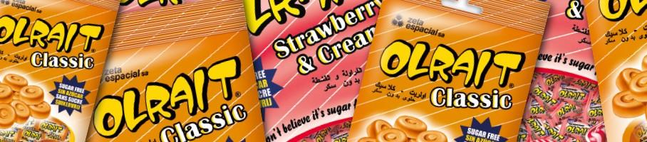 Olrait gama caramelo sin azúcar