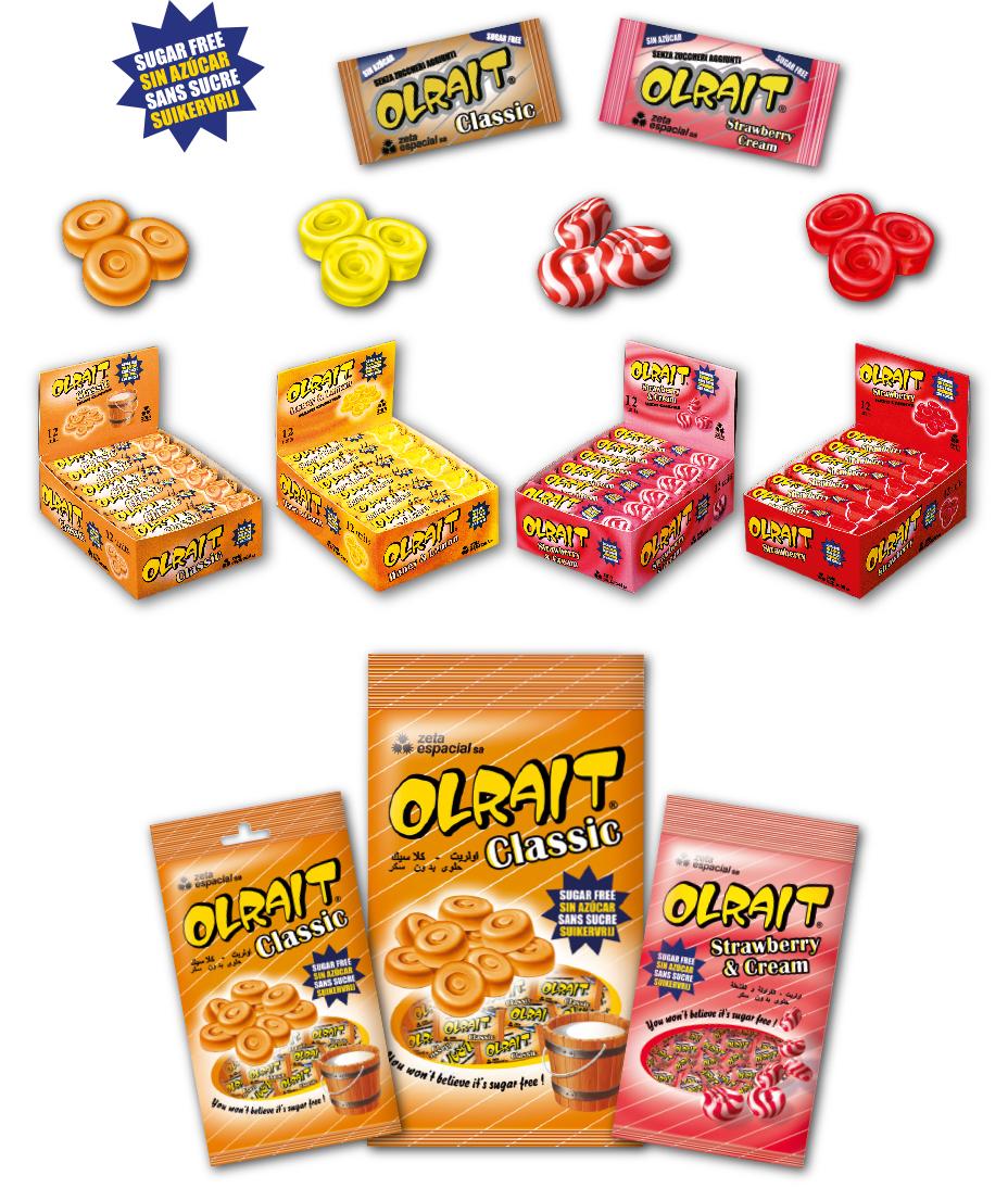 Olrait best selling Sugar Free range candies