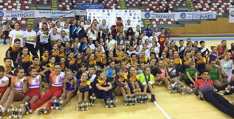 Participantes del Campeonato de España Alevin patrocinado por Peta Zetas popping candy.