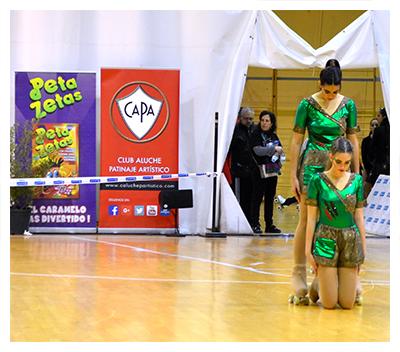 Patinadoras en el trofeo internacional Latina patrocinado por Peta Zetas