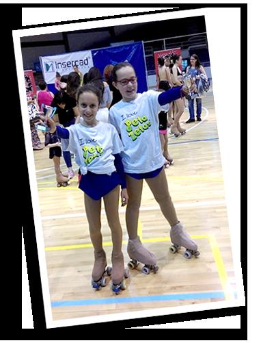 Patinadoras participantes del trofeo Club Patí Ciutat de Sabadell patrocinado por Peta Zetas entre otras empresas.