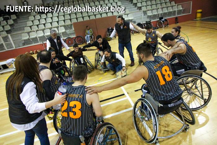 Peta Zetas apoya a Global Basket en el partido de 1º División BSR