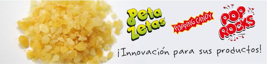 Peta Zetas popping candy ingrediente en pastelería