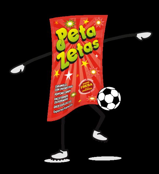 Peta Zetas juega al futbol