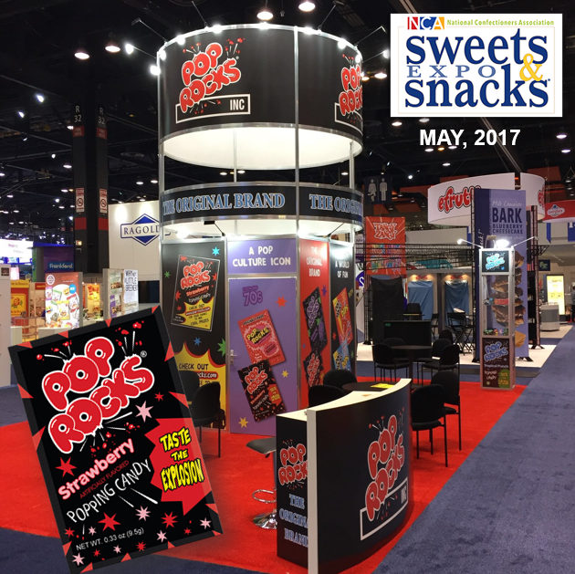 Estand de Pop Rocks en Exposición de Sweets & Snacks en USA