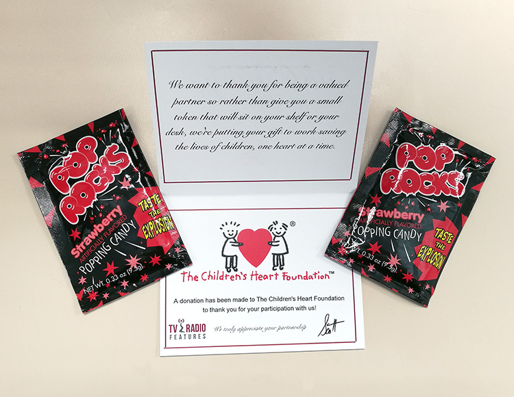 tv radio features the childrens heart foundation pop-rocks