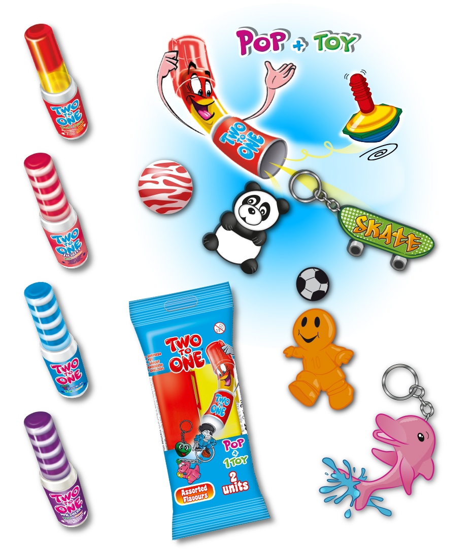two to One best selling Pop and Toy range
