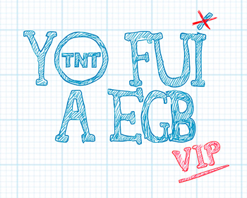 Logo de yo fui a EGB vip con colaboración de peta zetas